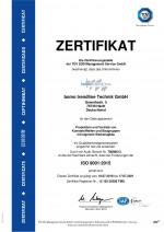 zertifiziert nach DIN ISO 9001:2015